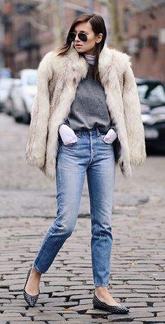 Can we talk about this fur coat?! Brooklyn Avenue Apparel totally approves!