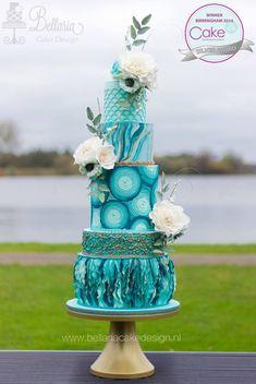 Elegant Wedding Cakes, Elegant Cakes, Beautiful Wedding Cakes, Gorgeous Cakes, Wedding Cake Designs, Pretty Cakes, Wedding Cake Toppers, Amazing Cakes, Unique Cakes