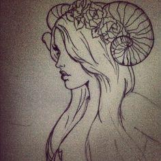 Aries ram lady
