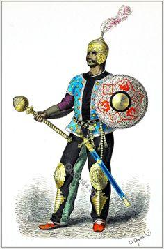 Persian general costume 15th century [Franz Lipperheide, 1876-1887]