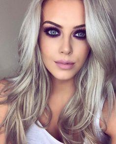 Hair white purple smokey eye 62 ideas for 2019 White Eye Makeup, Red Makeup, Smokey Eye Makeup, Hair Makeup, Smokey Eyes Tutorial, Eye Tutorial, Makeup Tutorials Youtube, Makeup Youtube, Half Up Curls
