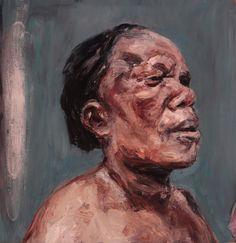 """SPA TOP40 2013 - Johann Louw  // """"Portret van A""""  /  Oil on Board  /  122x120cm"""