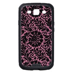 Black lace on pink samsung galaxy s3 covers