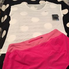 Nike Dri-Fit Running Shorts & CoolBreeze Top Large Nike Dri-Fit Running Shorts.  Brand New With Tags.  Size Large. These have built-in underwear.  They have zipper pocket on outer back center of waistband and a drawstring waist. And, Nike Cool Breeze Dri-Fit Top made from 100% recycled polyester.  New With Tags.  Size Large. See pictures.  I want to sell both items together.  No trades.  No Holds.  All offers (lowest ?'s) via make offer button only please (reasonable offers).  Thanks for…