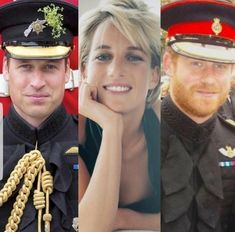 Princess Diana and her military sons, Princes William and Harry.