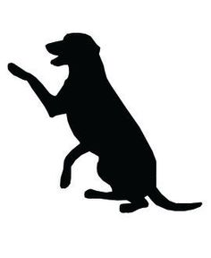 This piece of dog clip art features a retriever type dog sitting with paw raised. Black silhouette on white background. Dog clip art, pictures, art prints, posters and graphics. We love dogs. Labrador Silhouette, Animal Silhouette, Clip Art Pictures, Pictures Images, Dog Clip Art, Dog Shaking, Dog Quilts, Dog Tattoos, Dog Photos