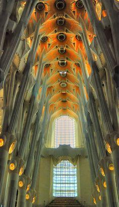 La Sagrada Familia. Antoni Gaudi. Barcelona, Spain. Gaudi started project in…