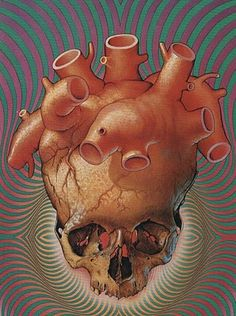 Heart and skull, as some kind of metaphor.  Patrick Woodroffe
