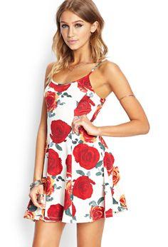 Wild Rose Skater Dress | Forever 21 - 2000088285