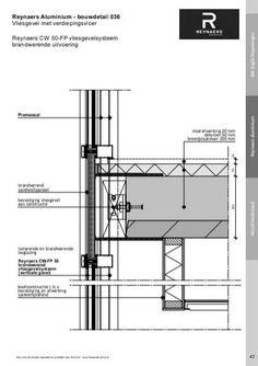 Reynaers Aluminium - bouw Reynaers Aluminium - bouwdetail 036 Vliesgevel met verdiepingsvloer Reynaers CW 50-FP vliesgevelsysteem