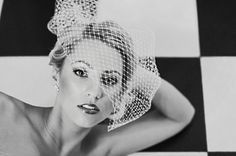 Love this in black and white!!!!! Veil Styles We Adore Wedding Hair & Beauty Photos on WeddingWire