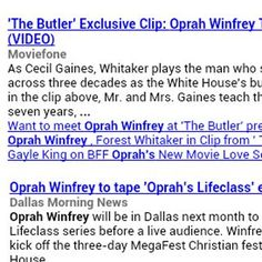 See everything about Oprah Winfrey in just one place. This app includes YouTube Videos, Twitter, News, and Wikipedia.<p>This app is completely dynamic, so it displays the latest information every time you view it.<p>Why navigate to four different websites, when you can easily view everything you want to see in this one app.