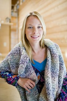 Serene Comfort Shawl - all half double crochet but on a size N hook so should go fast.