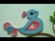 Quilling Made Easy # How to make Beautiful Bird design using Paper Art Q...