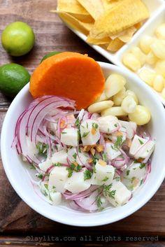 Cebiche de pescado peruano