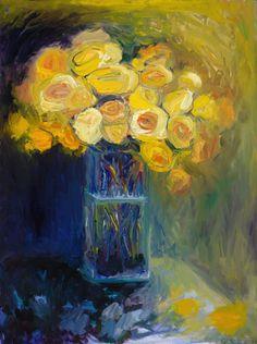 ❀ Blooming Brushwork ❀ - garden and still life flower paintings - Be Still by Elizabeth Gorek