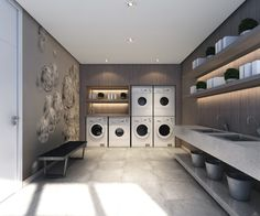 Laundromat Business, Laundry Business, Laundry App, Coin Laundry, Self Service Laundry, Store Layout, Laundry Room Design, Shop Interior Design, House