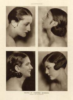 Laure Albin Guillot 1926 Profils et Coiffures Modernes, Hairstyle by Laure Albin Guillot | Hprints.com