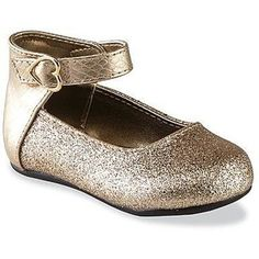 Natural Steps Toddler Girl's Rain Gold/Glitter Ballet Flat - Clothing, Shoes & Jewelry - Shoes - Baby & Kids Shoes - Toddler Girls' Shoes