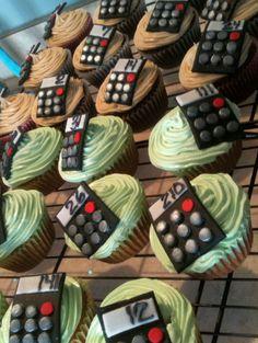 Calculator cupcakes - accountant, teacher, graduation, student, math