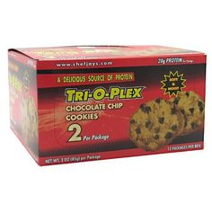 Product review for Chef Jay's Tri-O-Plex Cookies - Chocolate Chip - Box of 12 Packages - 2 Cookies Each (3oz -85g per package) -  Reviews of Chef Jay's Tri-O-Plex Cookies – Chocolate Chip – Box of 12 Packages – 2 Cookies Each (3oz -85g per package). Buy Chef Jay's Tri-O-Plex Cookies – Chocolate Chip – Box of 12 Packages – 2 Cookies Each (3oz -85g per package) on ✓ FREE SHIPPING on qualified orders. Buy online at BestsellerOutl