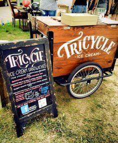 Ice cream bikes for sale! Icicle Tricycles custom Ice Cream trikes for Pedal Powered Businesses. Mobile ice cream cart business solutions. Ice Cream Vending
