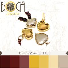 Corazones en plata y con baño de oro amarillo. Encuéntralos en nuestra isla en el centro comercial San Marino. #bogalovers #bogajewelry #sanmarino #colorpalette
