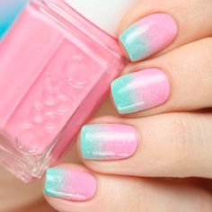 Ideas How to Do Cute Ombre Nails ★ See more: https://naildesignsjournal.com/cute-ombre-nails-ideas/ #nails