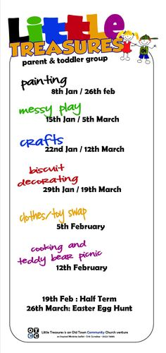 leaflet for Parent and Toddler group