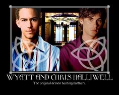Wyatt and Chris Halliwell hunted demons before Sam and Dean even got started Or at least they came on TV on Charmed BEFORE Supernatural did with Sam and. The Originals Serie Charmed, Charmed Tv Show, Movies Showing, Movies And Tv Shows, Chris Halliwell, Charmed Sisters, All Tv, Harry Potter, Magic Words