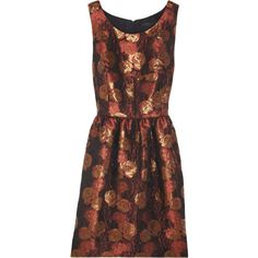 J.Crew Siren jacquard dress ($260) ❤ liked on Polyvore