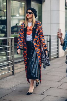 On the street at London Fashion Week. Photo: Moeez.