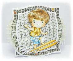 From our Design Team! Card by Ashlee Bellinger featuring Surfing Luka and these Dies - Groovy Elements, Yin Yang Border :-) Shop for our products here -  shop.lalalandcrafts.com  Coloring details and more Design Team information here - http://lalalandcrafts.blogspot.ie/2015/06/inspiration-monday-fathermasculine.html