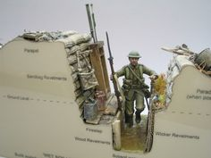 Trench section diorama