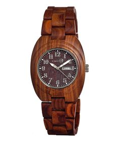 Love this EARTH wood watches Red Hilum Wood Bracelet Watch by EARTH wood watches on #zulily! #zulilyfinds