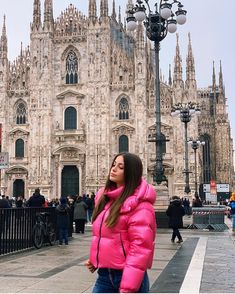Down Suit, Puffy Jacket, Jacket Style, Cold Weather, Pretty In Pink, Winter Fashion, Jackets For Women, Winter Jackets, Suits