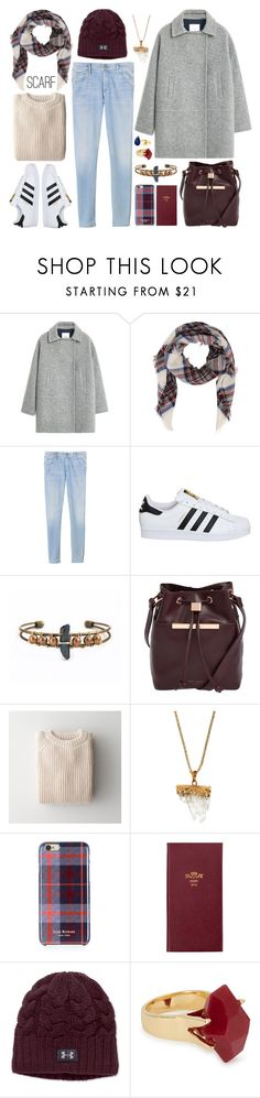 """Casual + coat + burgundy"" by leinijewelry ❤ liked on Polyvore featuring MANGO, Rebecca Taylor, adidas, Ted Baker, Babe, Panacea, Isaac Mizrahi, Debrett's, Under Armour and Lola Rose"