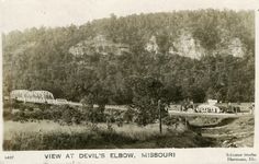 Vintage Postcard of the View at Devils Elbow, Missouri on Route 66. Courtesy of Joe Sonderman.