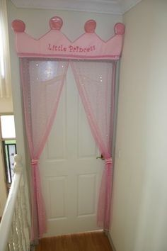 Little Princess Door Curtain. Cute idea if she wants a princess theme one day