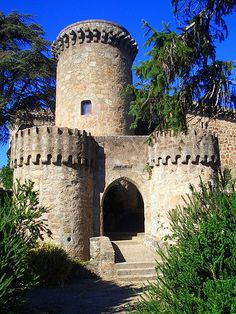 Castillo de Jarandilla de la Vera - Caceres -Spain - has been converted into a hotel - Spain