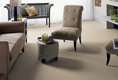 Cheap Ways to Clean Carpets Grey And Beige, Carpet Cleaners, Living Room Grey, How To Clean Carpet, Accent Chairs, Master Bedroom, Ottoman, Cleaning