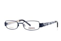 FOSSIL Abilene OFW1213 400 Brille in blau | Diese Brille von Fossil unterstreicht einen modernen, frischen Style perfekt! Die aus Metall gefertigte Brille lässt sich dank der hochwertigen Verarbeitung super leicht tragen. Egal ob lässig oder chic - mit dieser Brille machen Sie...
