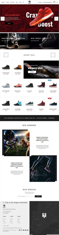 Moodshop is clean and modern design responsive #WooCommerce #WordPress theme for stunning #shoes shop #eCommerce website with 4 niche homepage layouts to download 👉click on image.