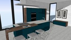 Large preview of 3D Model of LUCCA Deep Ocean - WITT Kitchen