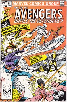Comic - The Avengers Annual 11 - Marvel Comics - Vintage Bronze Age (1982) - The Avengers Battle The Defenders