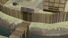 Gaelic Moated Sites - short clips from the animated production - 3D modelled and tracked simulated preview elements for an American TV documentary, about archae...