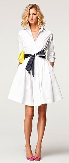 I want a white shirt dress so badly for summer!