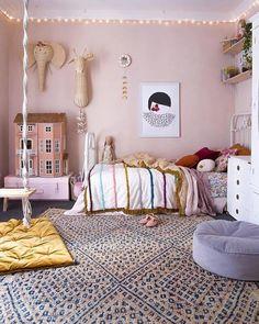 Master Bedroom Design, Bedroom Art, Home Decor Bedroom, Modern Bedroom, Girls Bedroom, Bedroom Ideas, Childrens Room Decor, Diy Curtains, Little Girl Rooms