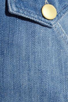 Blue denim Button fastenings through front  100% cotton Machine wash
