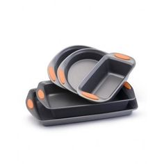 Rachael Ray Non-Stick 5-Piece Complete Bakeware Set, Orange